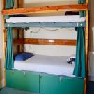 Bunk bed in a 6 bed dorm room